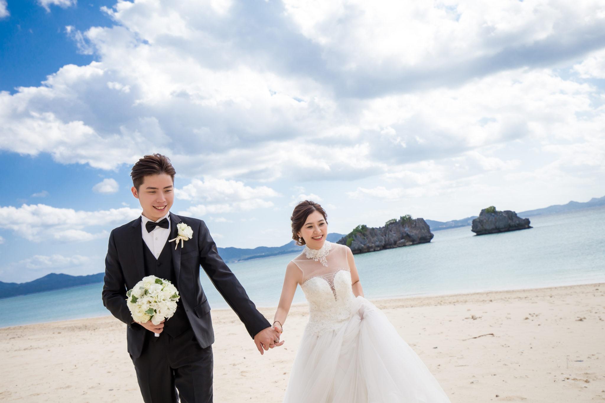 沖繩艾妮絲教堂的海灘拍照不止唯美
