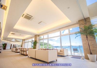 超大的海景賓客接待區,共有4個區域可坐,外面有陽台也有吸煙區