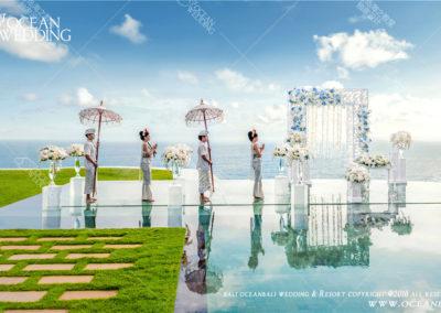 峇里島天空之鏡婚禮 OCEAN SKY WATER WEDDING2018年升級佈置