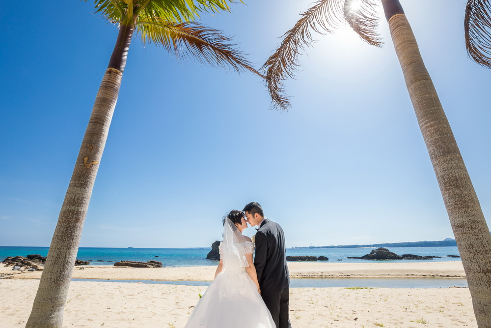 沖繩藍色海洋教堂海灘照